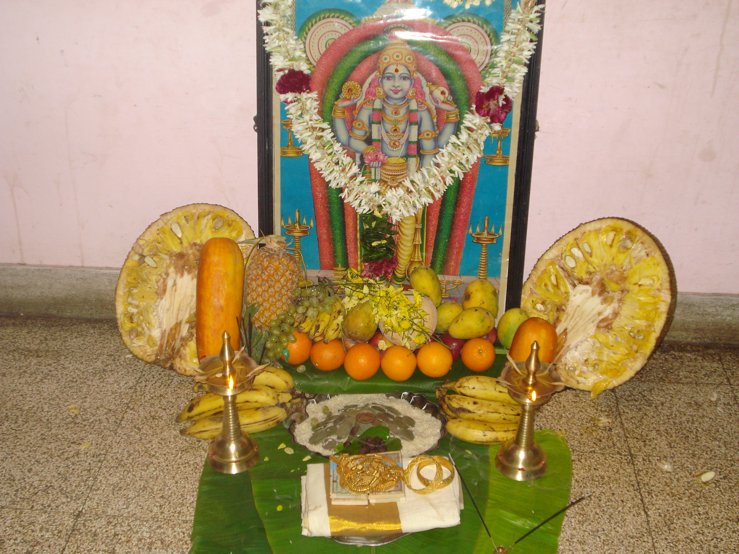 A warm welcome to spring time vishu tamil new year - New year celebration at home ...