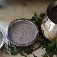 Ragi Porridge for Devi -Aadi kuzhu specialities